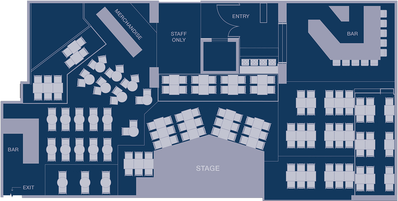Venue Seating Plan Sample Layout – Multiple options available for hire